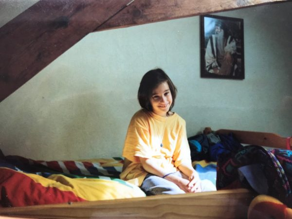 Little Maria-Carin on bunk bed