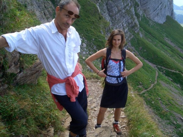 With Dad in the Swiss mountains