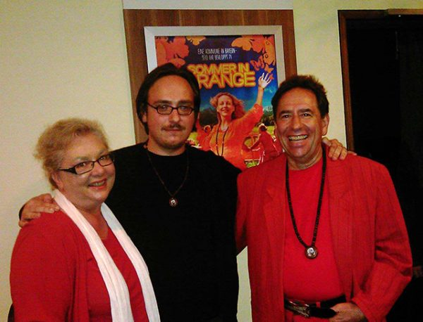 With his parents at the screening of 'Sommer in Orange'