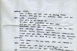 Letter to Vivek from Osho - private collection
