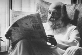 Osho reading Hindi paper Feat