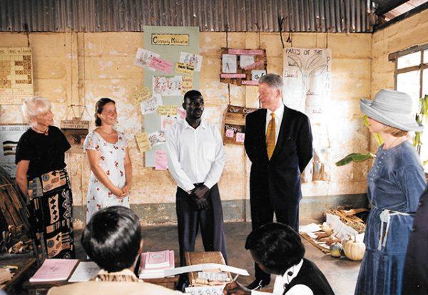 Shreyas in Uganda with President and Hillary Clinton
