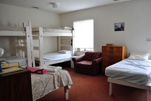 Dorm-style room