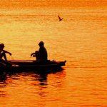 Two men in boat