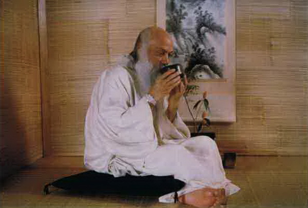 Osho with tea