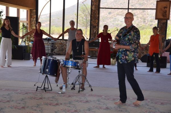 Milarepa and drummer Teerth at Heart Dance