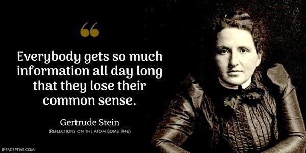 Gertrude Stein common sense