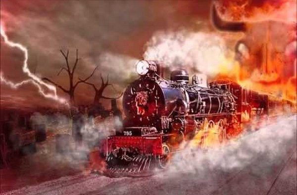 Train going to hell