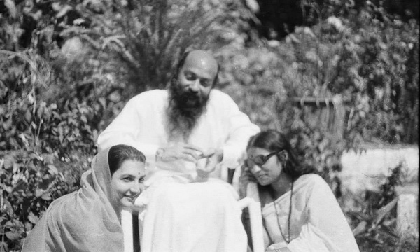 Osho and Kranti on his left