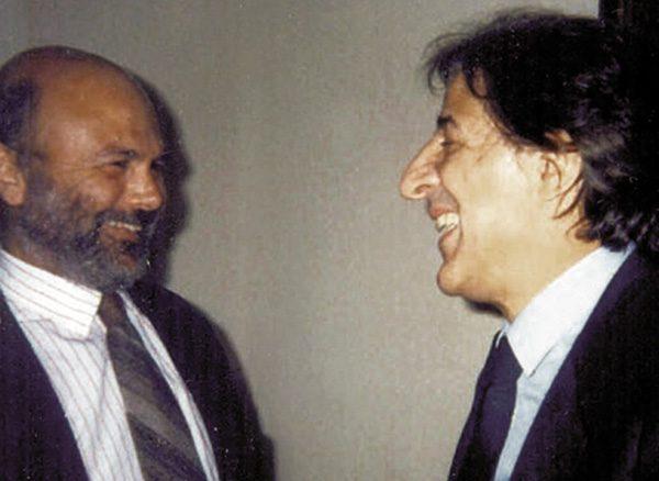 Magid with Giorgio Gaber