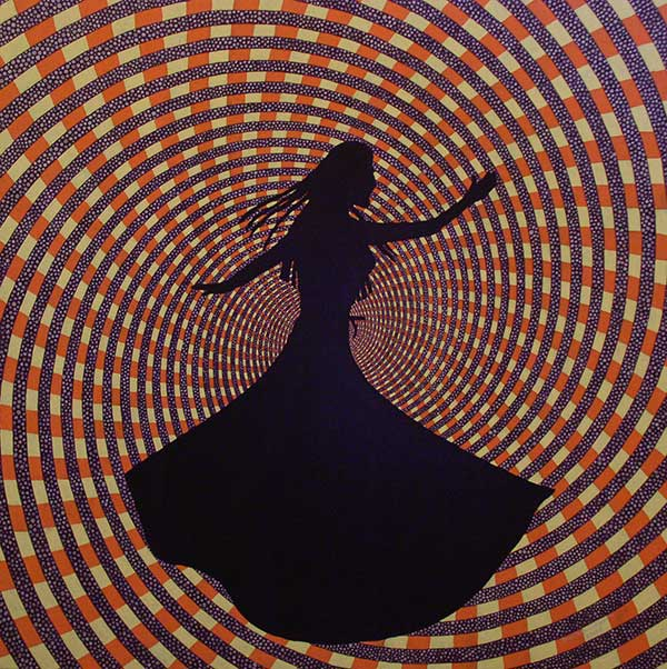 Whirling, Acrlic & oil on canvas, 2007, 33x33