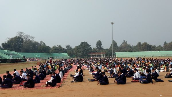 The World Meditation Day celebrated at the Kailash Prakash Stadium