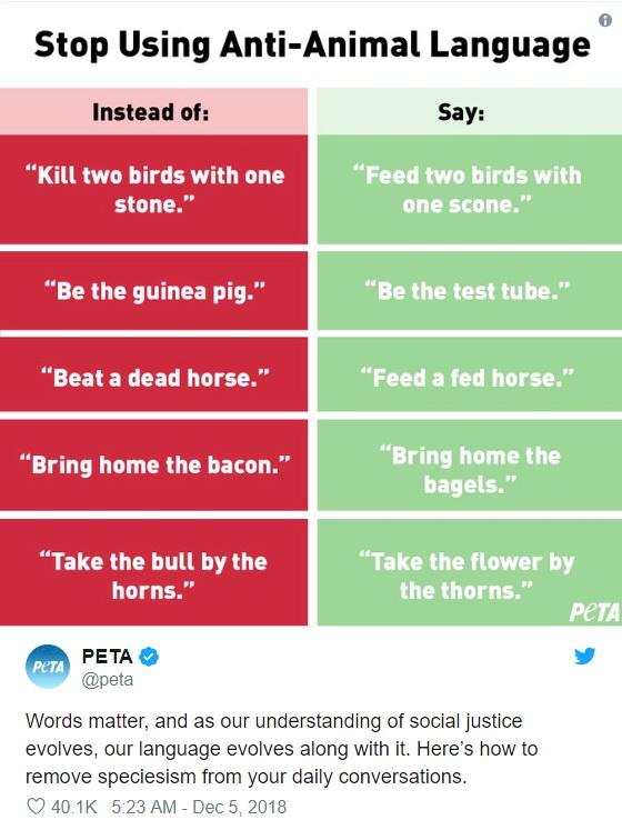 Stop animal language