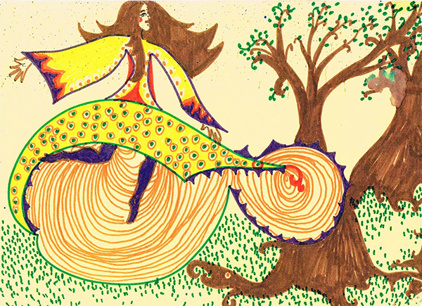 Whirly Teenage Painting by Madhuri