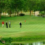 At golf