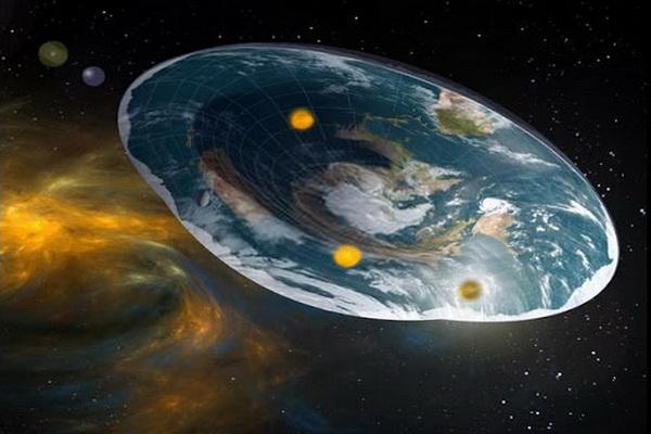 Flat planet