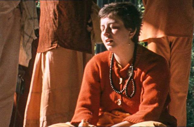 Krishna Radha meditating
