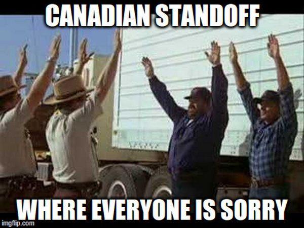 Canadian standoff