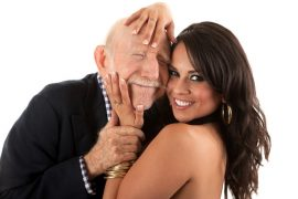 Old man with young woman