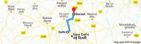Delhi to Baraut