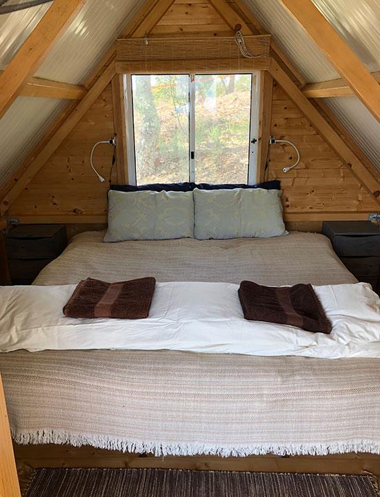 Inside a cabin