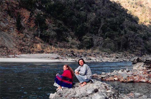 With Maitri in Rishikesh, India