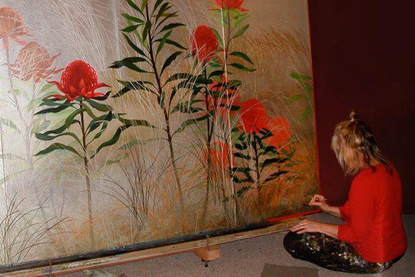 Padma painting in 2008