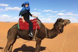 Priya on camel