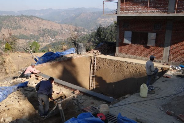 Water tank construction
