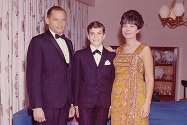 Her paternal grandparents, Phil and Shirley Granofsky, with her dad, Stanley, on the day of his bar mitzvah