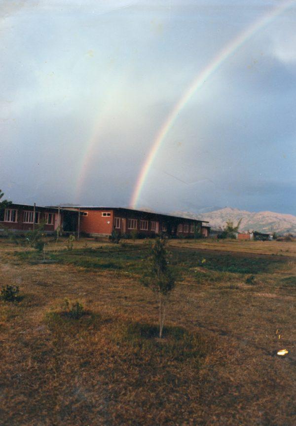 Rainbows over commune