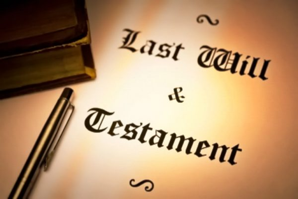Last will and testament paper