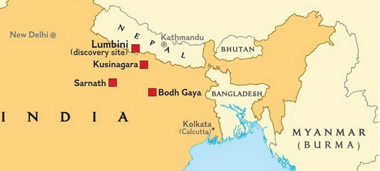 Map Northern India