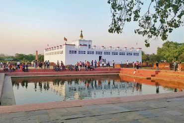 Maya Devi temple and pond in Lubini