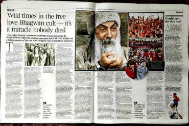 Double-page for Wild Wild Guru in The Times