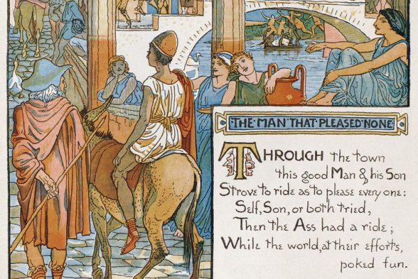 Illustration of a story by Aesop