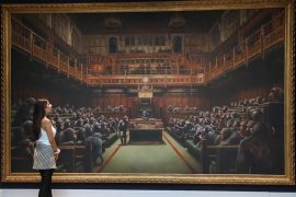 Banksy painting of House of Commons