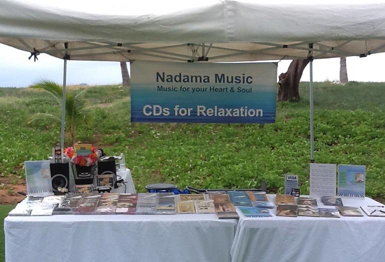 Nadama's tent on a gift fair