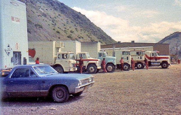 trucks on display