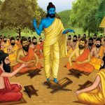 Guru and disciples painting