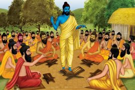 Guru and disciples painting