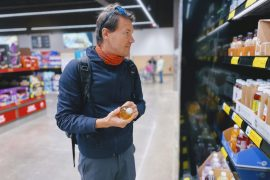 Man in supermarket