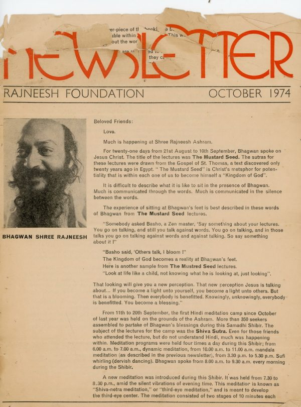 Newsletter Oct. 1974 Page 1
