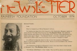 Rajneesh Foundation Newsletter Oct. 1974 F