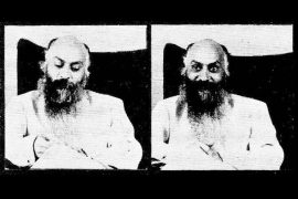 Osho giving darshan