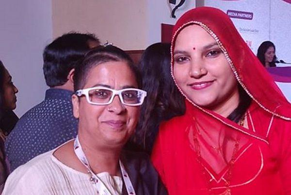 Raga Olga D'silva with Rama Devi