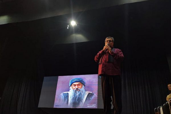 Subhash Ghai with Osho painting