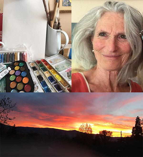 Priya Huffman, white canvas and sunset