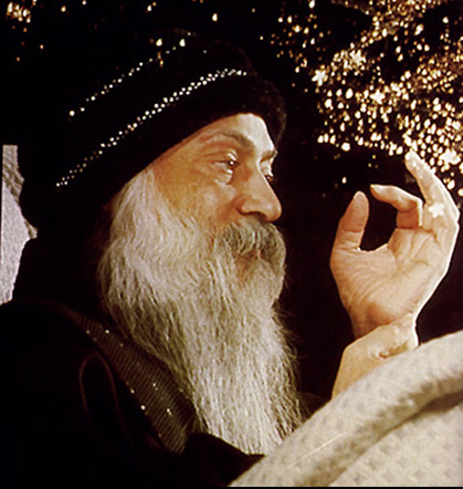 Osho speaking during a celebration