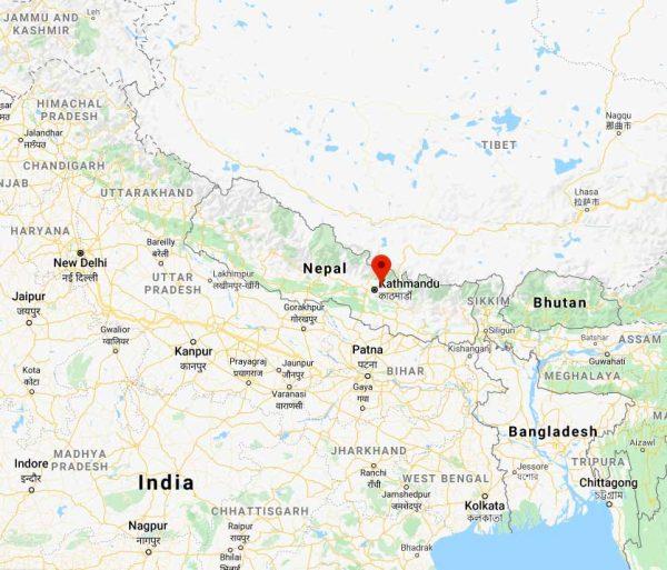 Location of Nagarkot